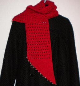 Diamond Scarf with Beads
