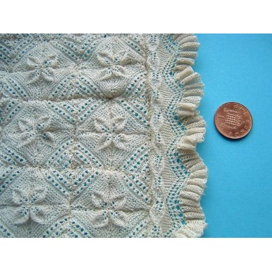 1:12th scale Apricot Leaf bedspread