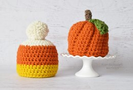 Pumpkin and Candy Corn Hats