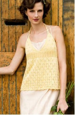 Dairy Maid Halter/Camisole in Tahki Yarns Cotton Classic