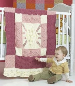Heirloom Baby Blanket in Lion Brand Vanna's Choice Baby and Vanna's Choice - 80798AD