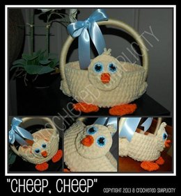 """Cheep, Cheep"" Baby Chick Easter Basket"