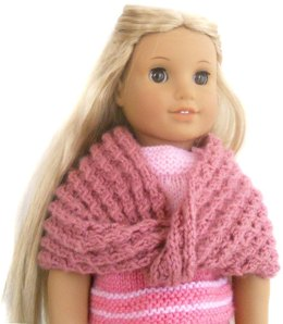 Cozy Infinity Shawl for AG and other 18'' Dolls
