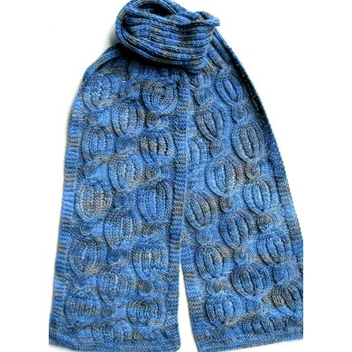 Drop Stitch Cabled Scarf Pattern