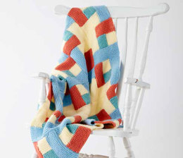 Log Cabin Knit Baby Blanket in Caron One Pound - Downloadable PDF