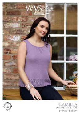 Camilla Line Top in West Yorkshire Spinners Exquisite Lace - Downloadable PDF