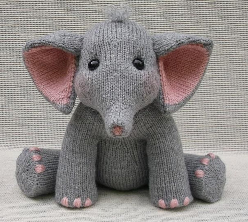 Knitting patterns for toys loveknitting baby elephant dt1010fo