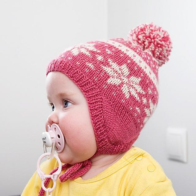 Baby snowflake hat Knitting pattern by unneva Knitting Patterns LoveKnitting
