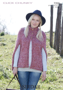 Women's Cape in Sirdar Click Chunky - 7350