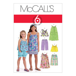 McCall's Children's/Girls' Tops, Dresses, Shorts and Pants M5797 - Sewing Pattern