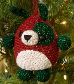 Puppy Ornament in Red Heart Holiday - LW2279 - Downloadable PDF