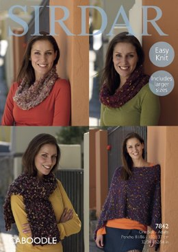 Poncho, Snood and Scarf in Sirdar Caboodle  - 7842