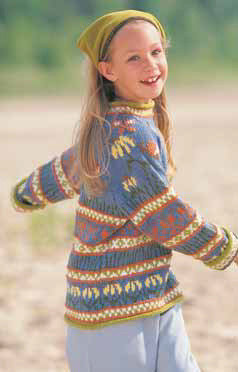 Enchanted Garden Sweater in Patons Astra