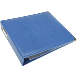 "We R Memory Keepers We R Classic Leather D-Ring Album 12""X12"" - Country Blue"