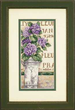 Dimensions Gold Petite: Counted Cross Stitch: Hydrangea Floral - 10 x 20 cm