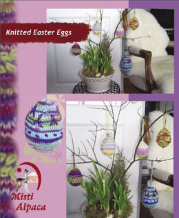 Knitted Easter Eggs in Misti Alpaca Hand Paint Sock - 2040