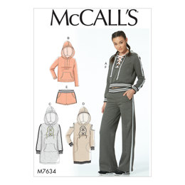 McCall's Misses' Knit Tops, Dresses, Shorts, and Pants M7634 - Sewing Pattern