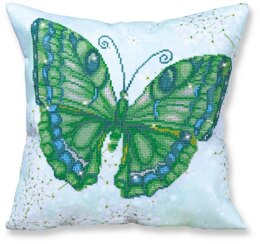 Diamond Dotz Papillon Vert Pillow Diamond Painting Kit