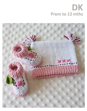 Cupcake Booties and Beanie Prem to 12 months