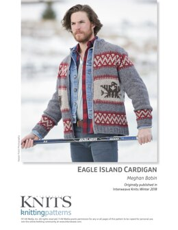Eagle Island Cardigan in Harrisville Designs Watershed - Downloadable PDF