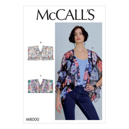 McCall's Misses' Tops M8000 - Sewing Pattern