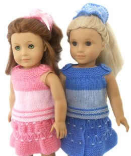Picnic day set for ag , gotz and other 18'' dolls