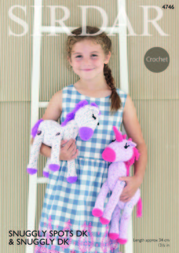 Horse and Unicorn Toys in Sirdar Snuggly Spots DK & Snuggly DK - 4746 - Downloadable PDF