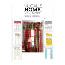McCall's Window Essentials (Valances and Panels) M4408 - Sewing Pattern