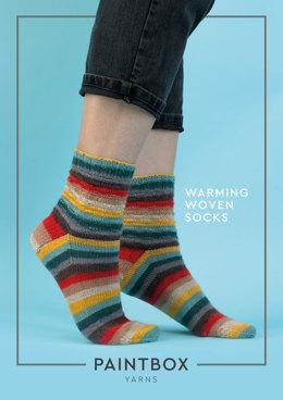 Warming Woven Socks in Paintbox Yarns Socks - Downloadable PDF
