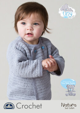 Tatty Teddy Baby Cardigan Me To You in DMC Natura Just Cotton - 15432L/2 - Leaflet