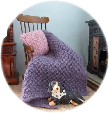 1:12th scale Blackberry throw and cushions