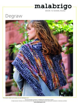 Degraw Shawl in Malabrigo Rasta - Downloadable PDF
