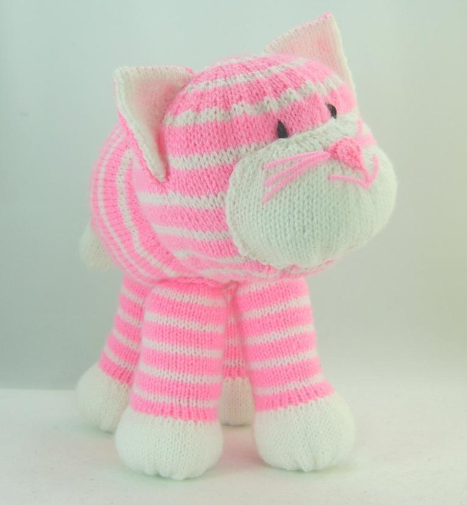 Knitting By Post Facebook : Cuddles the cat toy knitting pattern by post