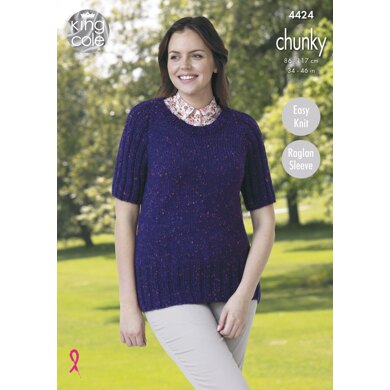 Jacket & Sweater in King Cole Chunky - 4424 - Downloadable PDF
