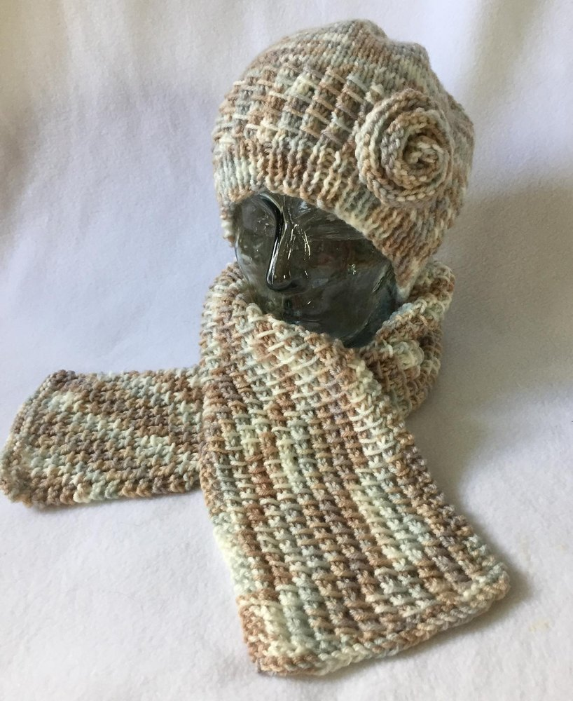 157c7b67cab Bamboo Stitch Hat and Scarf Knitting pattern by Frugal Knitting Haus