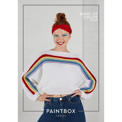 Band of Colour Top in Paintbox Yarns Baby DK - Downloadable PDF