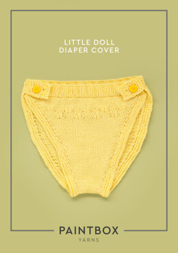 Little Doll Diaper Cover in Paintbox Yarns Cotton DK - Downloadable PDF