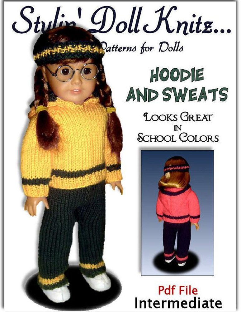 Doll Clothes Knitting Pattern Fits American Girl Doll 18