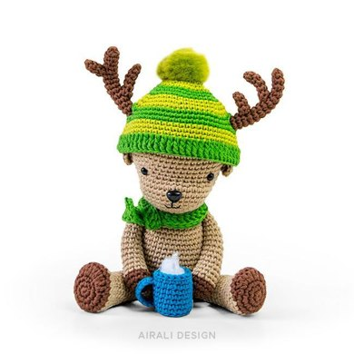 Dasher the amigurumi reindeer
