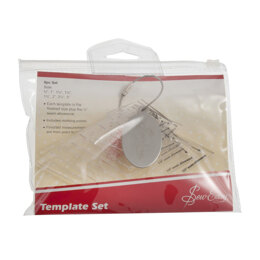 Groves & Banks Mini Diamonds Patchwork Template Set in 8 Sizes: 0.75 inches to 3 inches