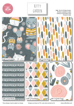 Craft Cotton Company Kitty Garden Fat Quarter Bundle