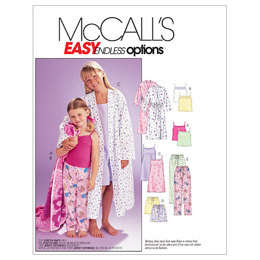 McCall's Children's/Girls' Robe, Belt, Tops, Gown, Shorts and Pants M6225 - Sewing Pattern