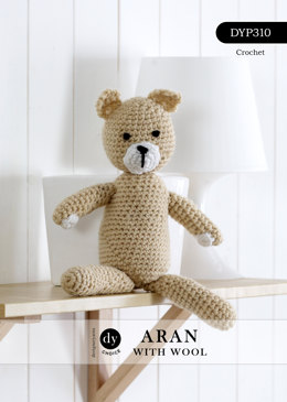 Normie the Crochet Teddy Toy in DY Choice Aran With Wool - DYP310 - Leaflet