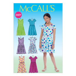 McCall's Girls'/Girls' Plus Dresses M7079 - Sewing Pattern