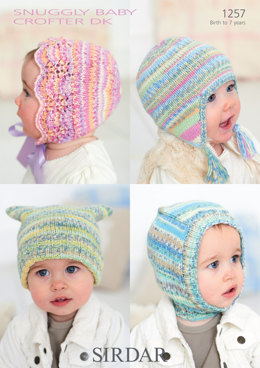 Baby's/Child's Hats in Sirdar Snuggly Baby Crofter DK - 1257