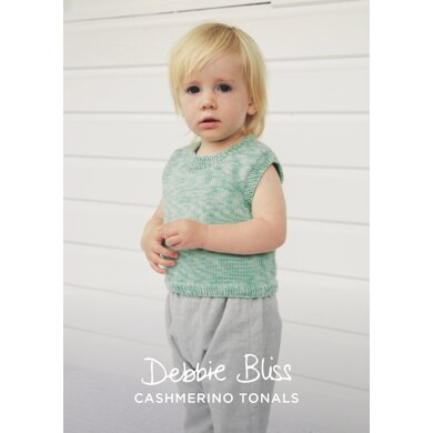 Daisy Tank in Debbie Bliss Baby Cashmerino Tonals - DBS078 - Downloadable PDF