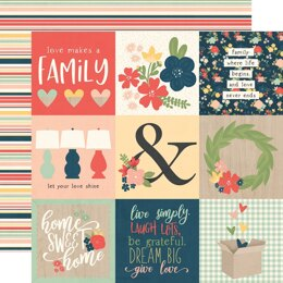 """Simple Stories So Happy Together Double-Sided Cardstock 12""""X12"""" 25/Pkg - 4""""X4"""" Elements"""
