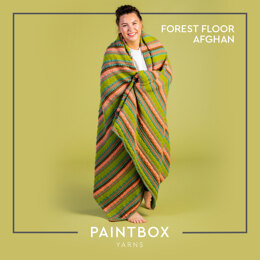Forest Floor Afghan - Free Afghan Knitting Pattern For Home in Paintbox Yarns Simply DK by Paintbox Yarns