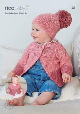 Cardigans and Hat in Rico Baby Classic DK & Rico Baby Classic Print DK - 839 - Downloadable PDF