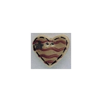 Mill Hill Button 86228 - Old Heart Flag